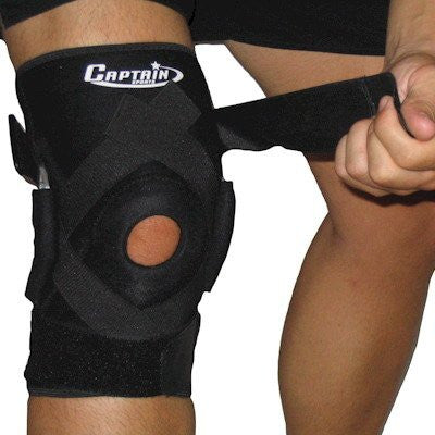 Captain Sports Hinged Knee Brace with Patella Stabilizers