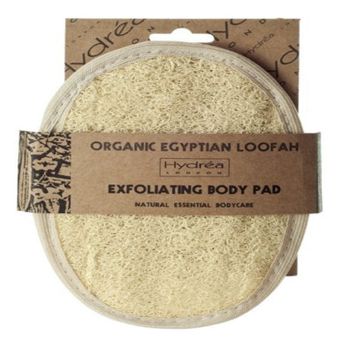 Hydrea London Organic Egyptian Loofah Exfoliating Body Pad - Luxury Body Exfoliator