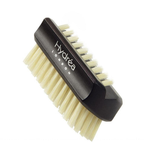 Hydrea London Dual Sided Rosewood Nail Brush Natural Bristle - Travel Size