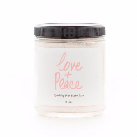Olivine Atelier - All Natural / Vegan Love + Peace Sparkling Pink Butter Bath Salts 10oz