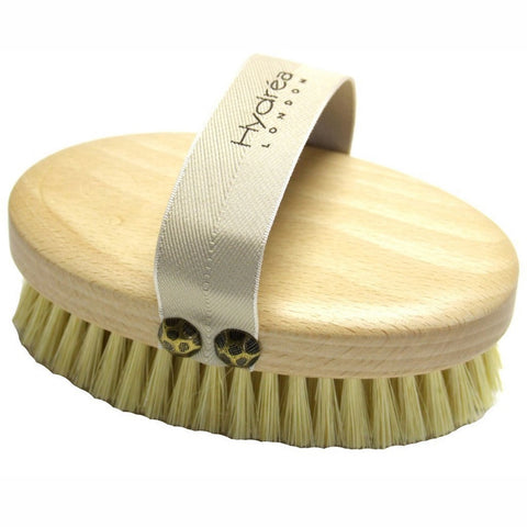 Hydrea London Professional Dry Skin Body Brush with Cactus Bristles (Firm/Extra Firm Bristles)