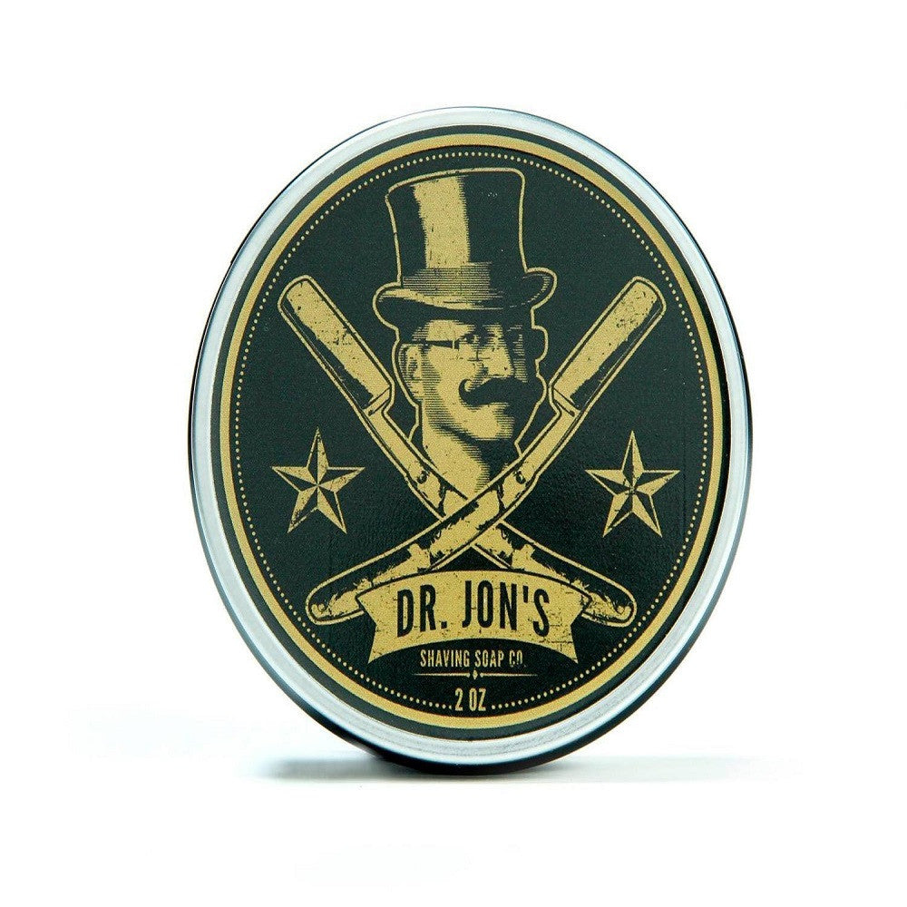Dr. Jon's Shaving Soap Black, 4oz