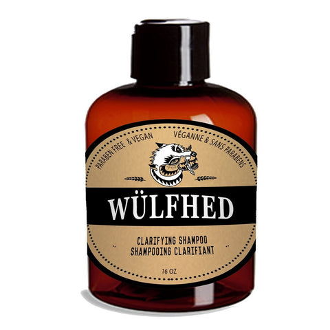 Wülfhed Large Clarifying Beard Shampoo & Conditioner 16oz (Shampoo)