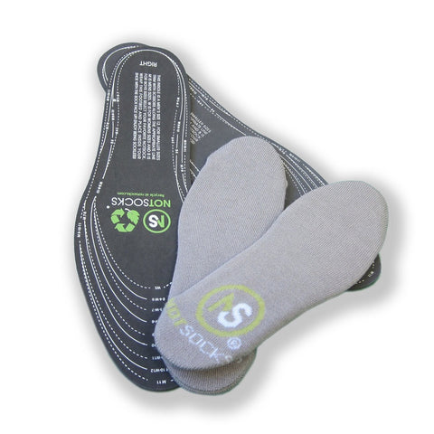 NOTSOCKS®  - The Sock-less Solution For Feet Of Any Size (Grey)