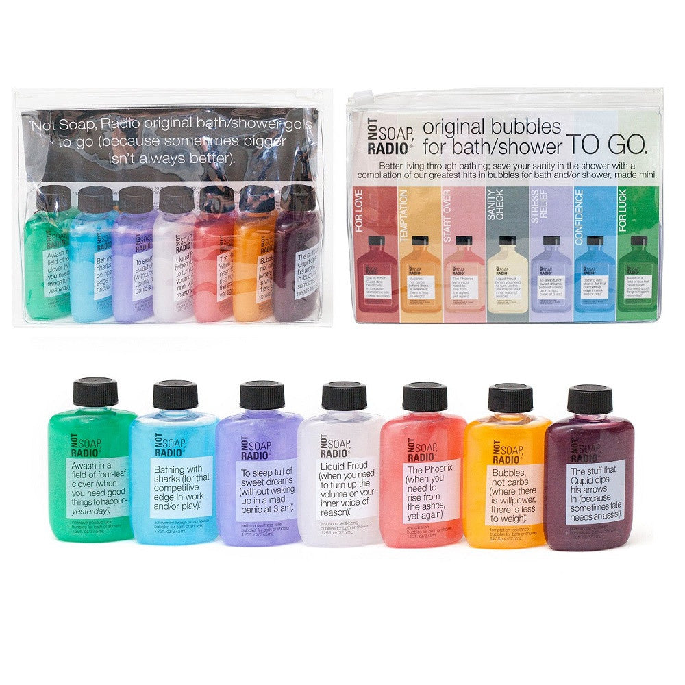 Not Soap, Radio - Travel-Sized Body Wash Set (All Seven Mini Bath Gels)