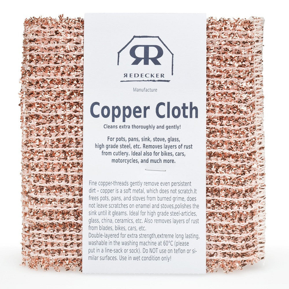 Bürstenhaus Redecker 5.5 x 6.1-inches Copper Cleaning Cloth, Set of 2