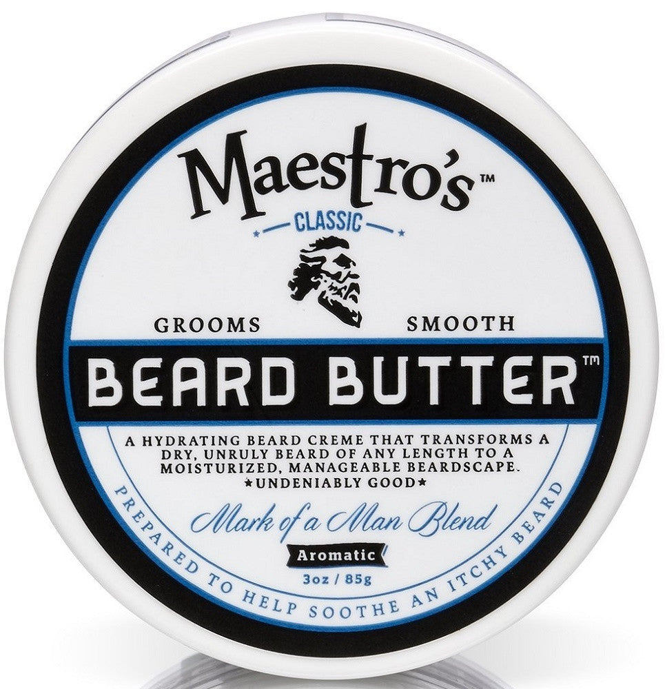 Maestro's Classic Mark of a Man Beard Butter, 3 Ounce