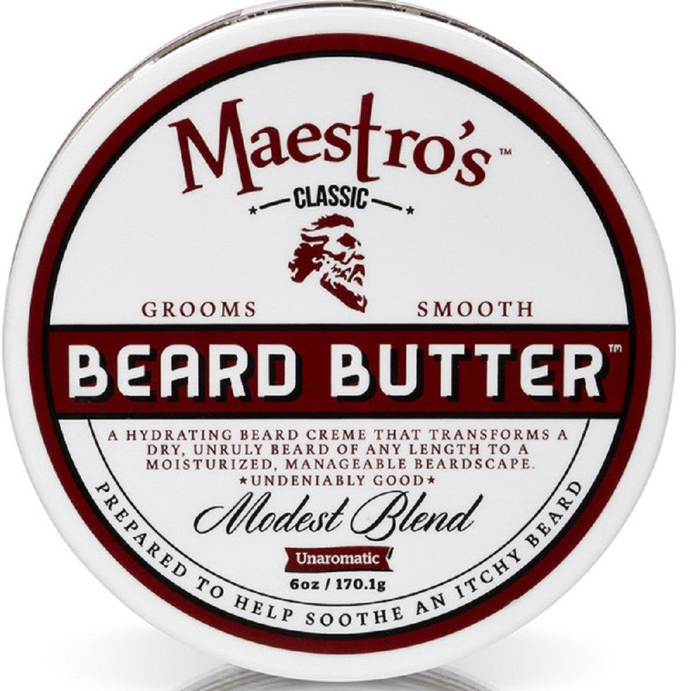 Maestro's Classic Modest Beard Butter, 6 Ounce