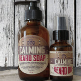 OneDTQ BEARD CARE KIT: BEARD SOAP (4 FL OZ) & BEARD OIL (1 FL OZ) - CALMING BLEND
