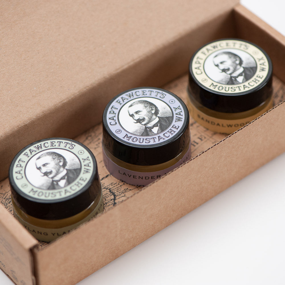 Captain Fawcetts Moustache Wax Cornucopia
