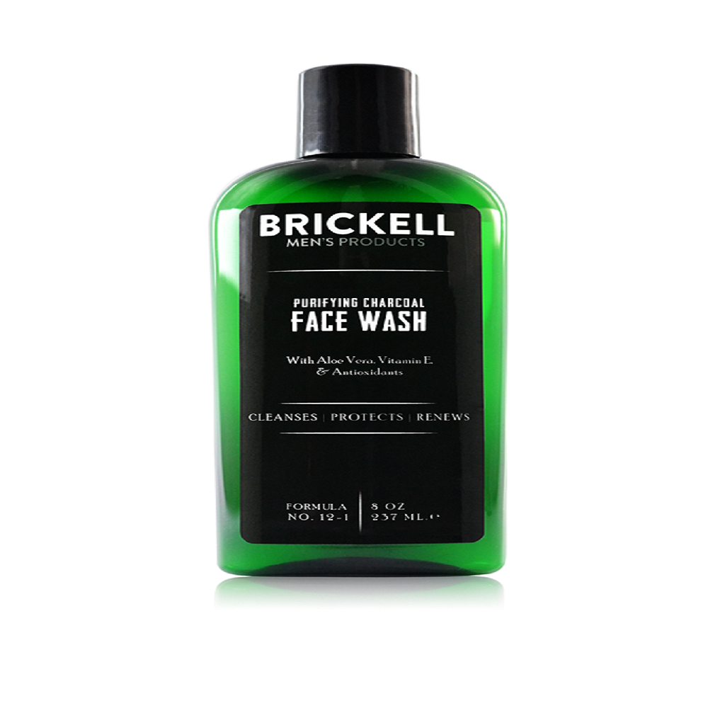 Brickell Purifying Charcoal Face Wash for Men