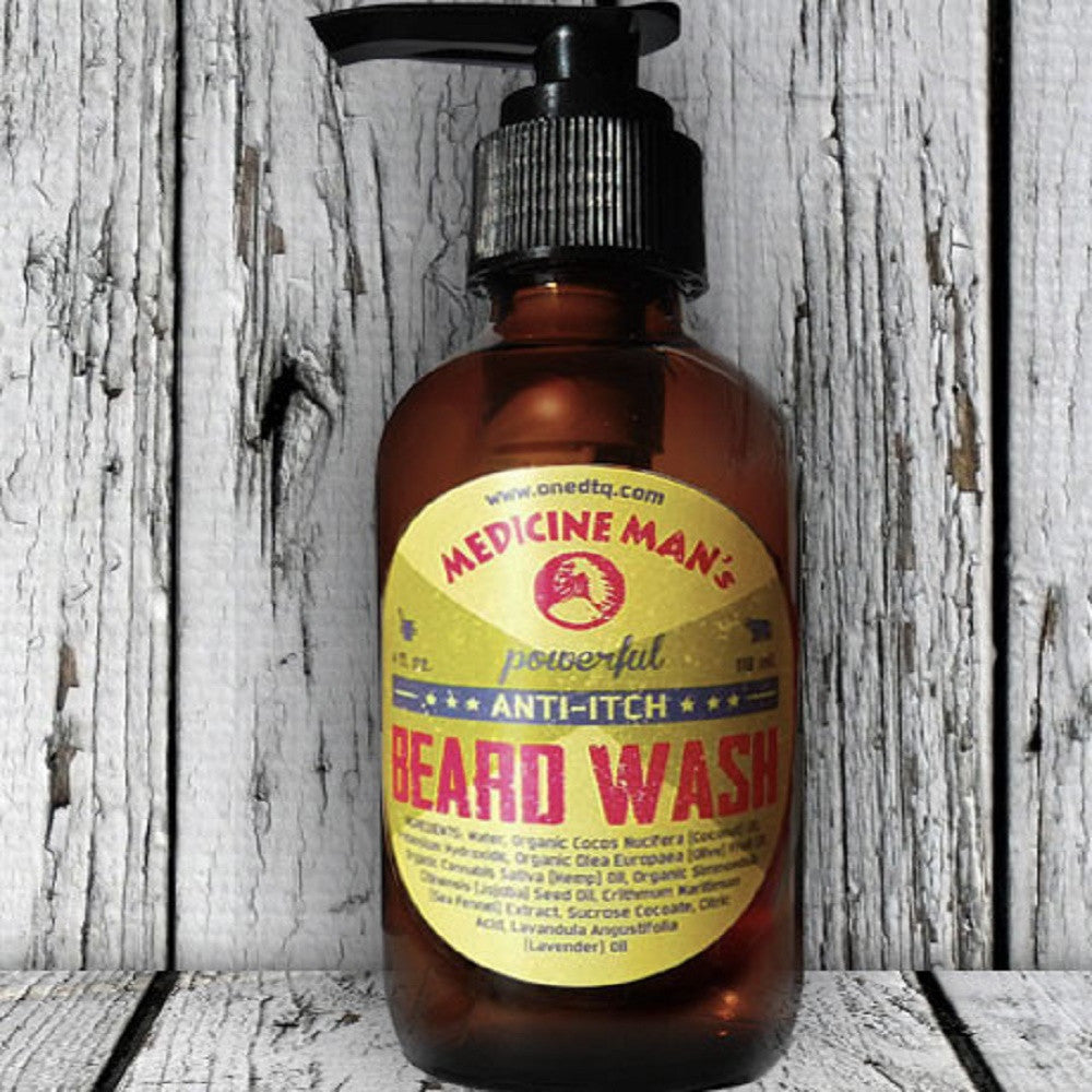 OneDTQ ITCHY BEARD WASH - MEDICINE MAN'S - 4 FL OZ
