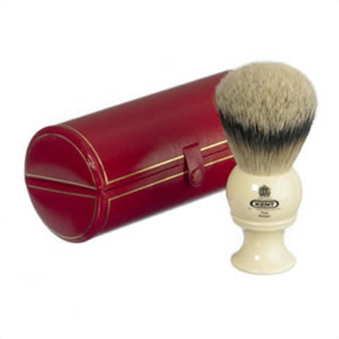 Kent BK8 Traditional Silver Tip Badger Shaving Brush, Cream