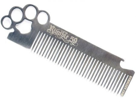 Rumble 59 Schmiere Stainless Steel Brass Knuckles Hair Comb