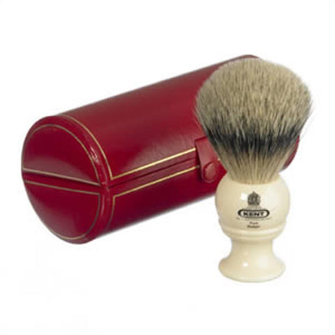 Kent BK4 Traditional Medium Silver Tip Badger Shaving Brush, Cream