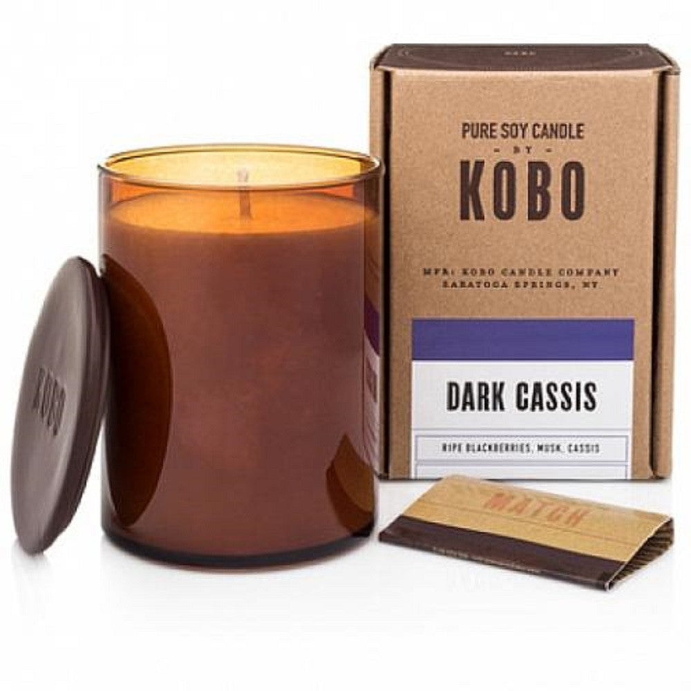 Kobo Dark Cassis Soy Candle - Woodblock Collection