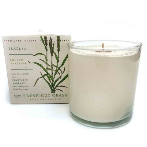Kobo Fresh Cut Grass Soy Candle with Plantable Box