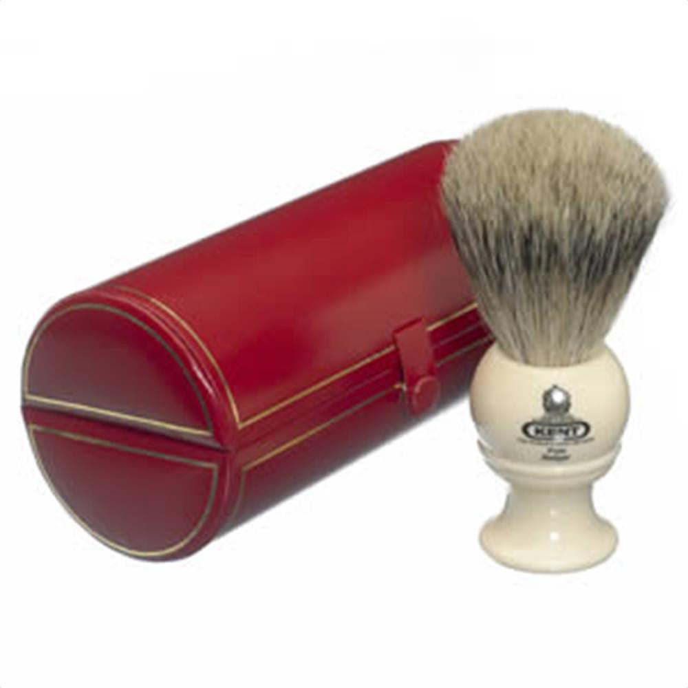 Kent BK2 Traditional Pure Grey Badger Shaving Brush, Cream