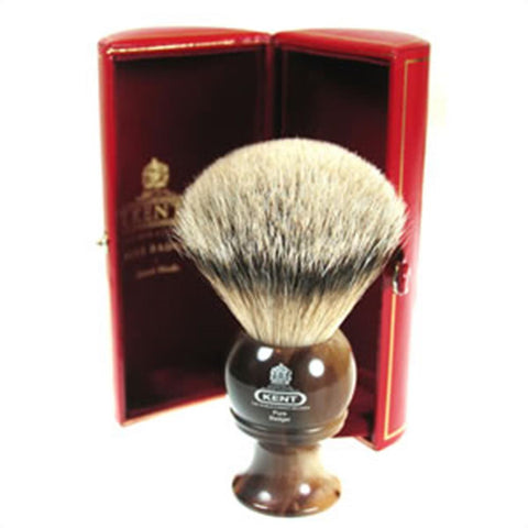 "Kent H8 Best Badger Shaving Brush, ""Horn"""