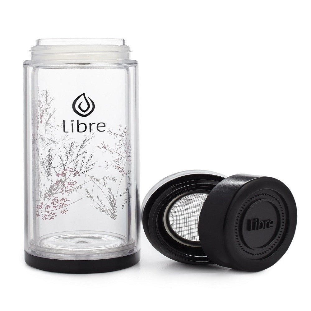 Libre Tea Infuser Tumbler- Black Brush