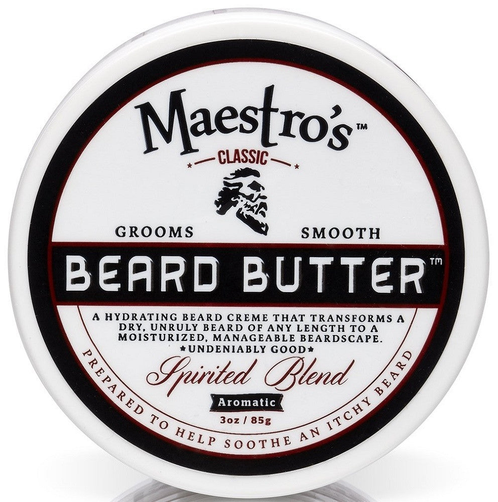 Maestro's Classic Spirited Beard Butter, 3 Ounce