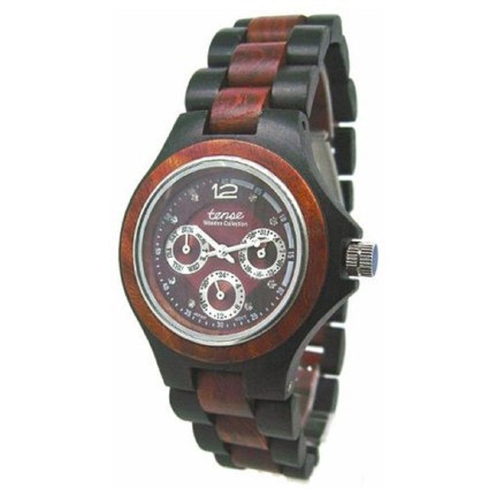 Tense Solid Wood Multi Eye Hypoallergenic Wrist Watch Mens G4300DS ANDF