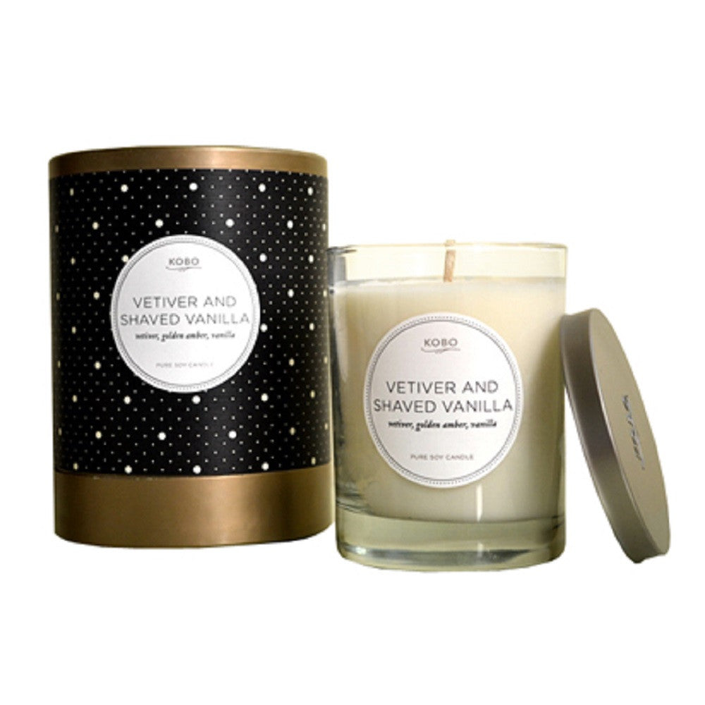 Kobo Soy Candle Vetiver & Shaved Vanilla