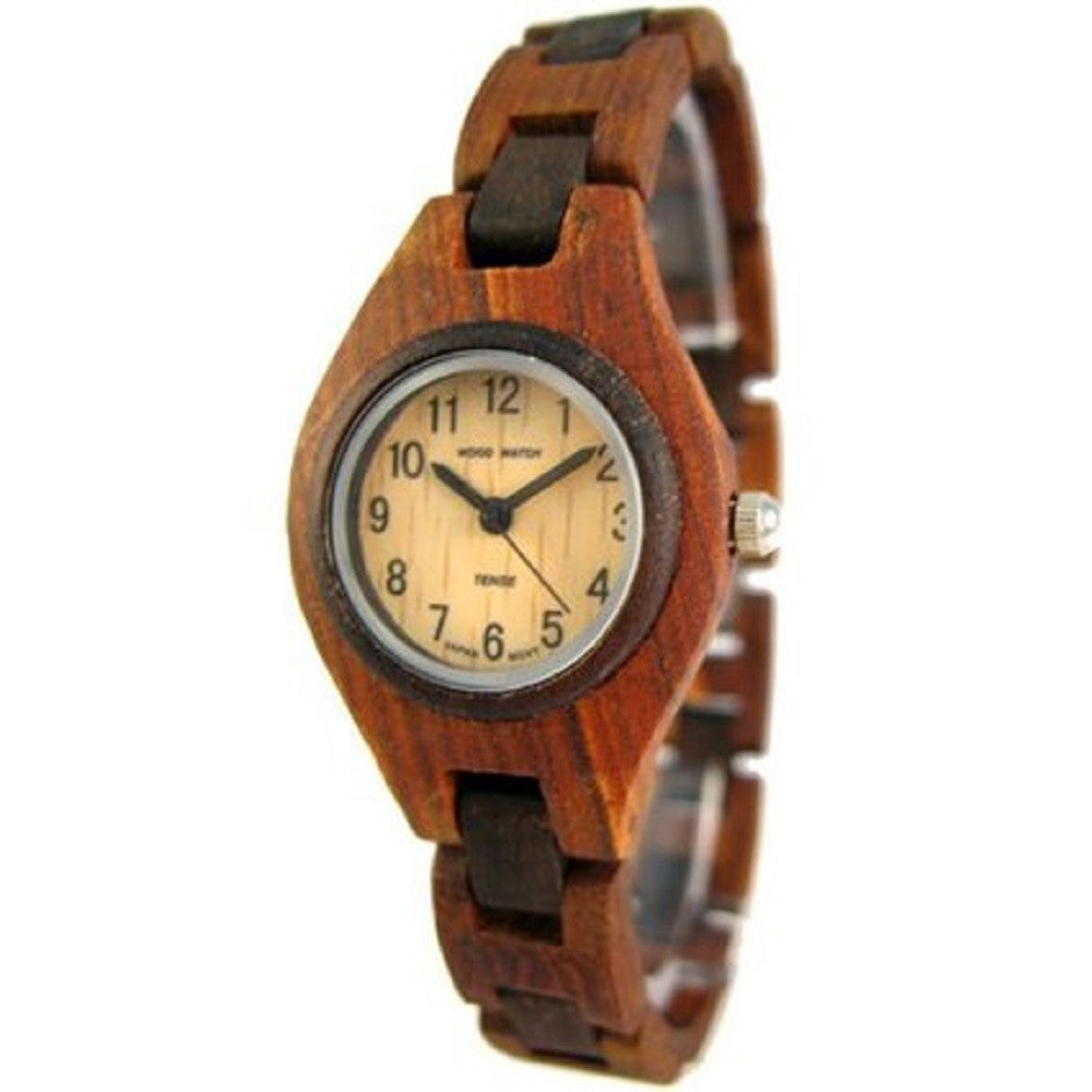 Tense Women's Lightweight Pacific Wood Watch L7509SD