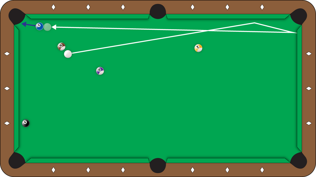 Shot of the Week #25 - Reverse the Direction of the Cue Ball with this 2-Rail Kick Shot