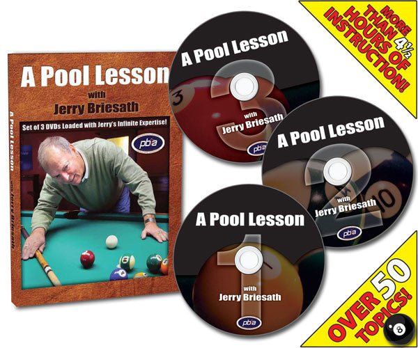 A Pool Lesson With Jerry Briesath 3-DVD Instructional Series