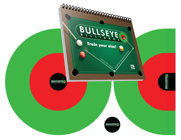 Bullseye Billiards Book + Target Set Bundle