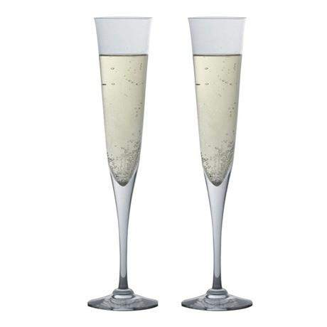 Dartington Whisky & Champagne Celebration Flute Glasses - Pair