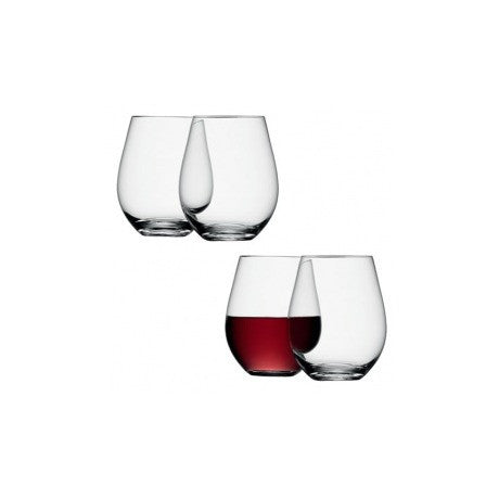 LSA Wine Stemless Red Wine - Clear - Set of 4
