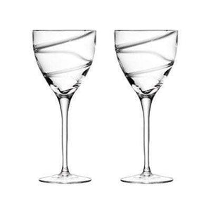 LSA International Malika Wine Goblet 350ml - clear spiral - Set of 4