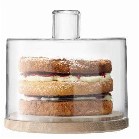 LSA Lotta Cake/ Cheese Dome & Ash Base - 25.5cm