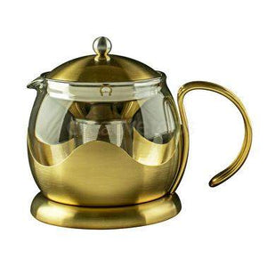 La Cafetiere Edited 1200ml Le Teapot Brushed Gold