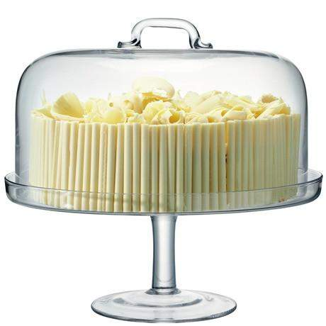 LSA Serve CakeStand & Dome Clear 34.5cm/32cm
