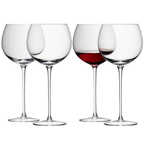 LSA Wine Balloon Wine Glass Clear - Set of 4