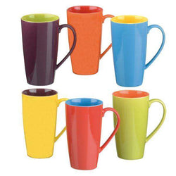 BIA International Harlequin Latte Mugs Set of 6