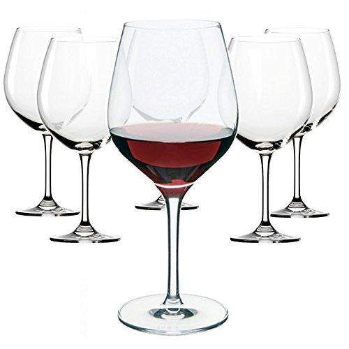 Dartington Crystal Six for Four Classic Large Red 6 Pack