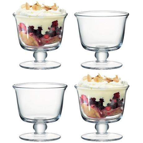 LSA Serve Tall Dish - Set of 4 - Clear