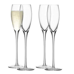 LSA Wine Champagne Flute - Clear - Set of 4