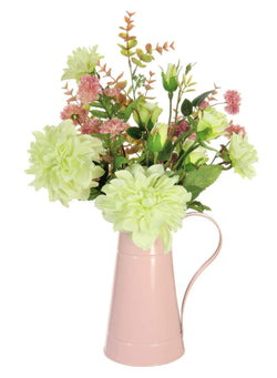 Lotus Dahlia Mixed Jug Arrangement Pink/Green