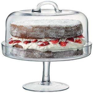 LSA Serve CakeStand & Dome - Clear - 26.5cm Plate