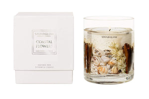 Stone Glow Nature's Gift - Coastal Flowers Natural Wax Gel Candle