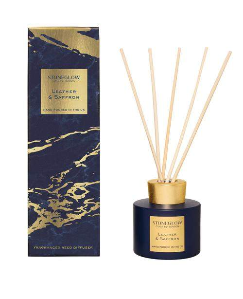 Stoneglow Luna - Leather & Saffron Reed Diffuser