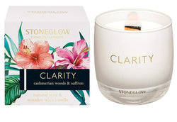 Stoneglow Infusion - Cashmerian Wood & Saffron Candle Clarity