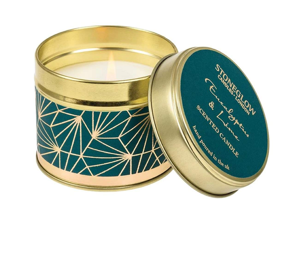 Stoneglow Seasonal Collection - Eucalyptus & Lime Candle Tin
