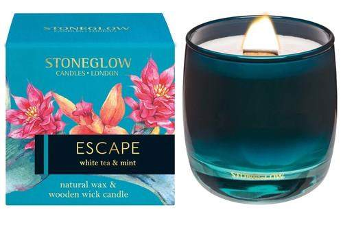 Stoneglow Infusion - Escape Candle - White Tea & Mint