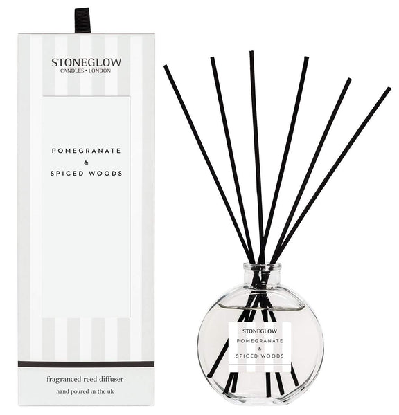Stoneglow Modern Classics - Pomegranate & Spiced Woods Reed Diffuser